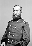 James Garfield Framed Prints - Brig. Gen. James A. Garfield, Officer Framed Print by Everett
