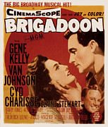 Kelly Photo Prints - Brigadoon, Cyd Charisse, Van Johnson Print by Everett