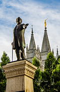 Slc Prints - Brighams SLC Temple Print by La Rae  Roberts