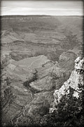Az Acrylic Prints - Bright Angel Trail Black and White Acrylic Print by Ricky Barnard