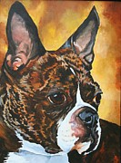 Brindle Prints - Bright Brindle Print by Susan Herber