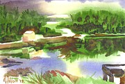 Shepherd Art - Bright Evening Dusk at Shepherd Mtn Lake by Kip DeVore