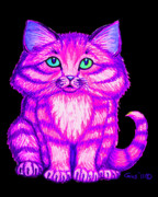 Kitty Drawings - Bright Kitty by Nick Gustafson