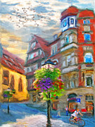 Building Exterior Mixed Media - Bright noon by Nikolay Vakatov