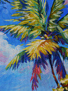 Bay Islands Prints - Bright Palm Print by John Clark