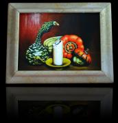 Combination Mixed Media - Bright Picture Frame made of sandstone- world novelty by Philipp M
