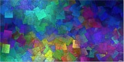 Glass Wall Digital Art - Bright Squares by Gt