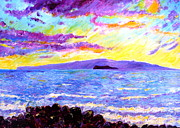 Athletes Painting Originals - Bright sunset by Tamara Tavernier