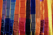 Repetition Photos - Brightly coloured egyptian scarves on display by Sami Sarkis