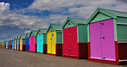 Sussex Framed Prints - Brighton Beach Huts Framed Print by Phil Clements