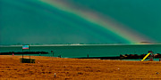 York Beach Metal Prints - Brighton Beach Rainbow 2 Metal Print by David Hahn
