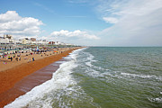 Large Group Of People Prints - Brighton Beach Print by Richard Newstead