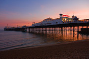 Surf Silhouette Prints - Brighton pier Print by James McQuarrie