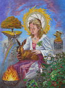 Science Paintings - Brigid Goddess Celtic Goddess of Fire by Tomas OMaoldomhnaigh