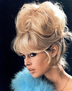 Updo Framed Prints - Brigitte Bardot, C. 1960s Framed Print by Everett