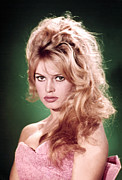 1950s Portraits Framed Prints - Brigitte Bardot, Ca. 1950s Framed Print by Everett