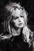 Brigitte Bardot Paintings - Brigitte Bardot by Stefan Olivier