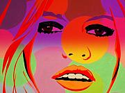 Funkpix Digital Art Posters - Brigitte Bardot ... Young  Poster by Funkpix Photo Hunter