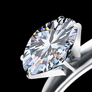 Three Dimensional Art - Brilliant Cut Diamond by Setsiri Silapasuwanchai
