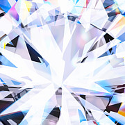 Dimensional Art - Brilliant Diamond  by Setsiri Silapasuwanchai