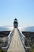 New England Lighthouse Photo Posters - Brilliant Light Poster by Corinne Rhode