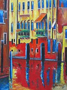 Canal Mixed Media - Brilliant VENICE by Dan Haraga