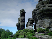 Outcrops Framed Prints - Brimham Rocks 3 Framed Print by Steve Watson