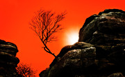 North Yorkshire Prints - Brimham Sunset Print by Meirion Matthias