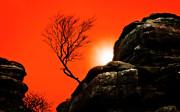 Brimham Sunset Print by Meirion Matthias