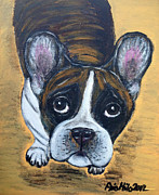 Brindle Painting Prints - Brindle Frenchie Print by Ania M Milo