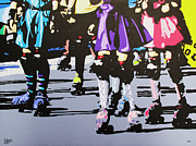 Roller Skates Painting Prints - Bring It On Print by Lance Bifoss