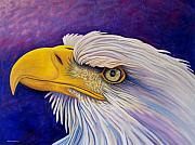 Bald Eagle Painting Framed Prints - Bring Me A Higher Love Framed Print by Brian  Commerford