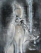 Horus Painting Metal Prints - Bring Me To Life Metal Print by Rana King