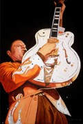Rockabilly Paintings - Bring on the Heat Reverend Horton by Al  Molina