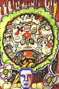 Hallucination Drawings Framed Prints - Bring Out The Clowns Framed Print by Sam Hane
