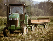 Sweet Corn Farm Prints - Bring the Load Print by Tim  Fitzwater