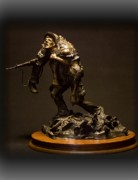 Soldier Sculptures - Bringing Back a Buddy by Michael Boyett