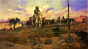 Great Plains Painting Posters - Bringing Home The Spoils Poster by Pg Reproductions