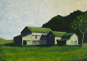 Pa Barns Posters - Brions farm Poster by Bibi Snelderwaard Brion