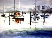 Charlton Paintings - Brisbane River Queensland by Shirley Roma Charlton