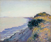 Devon Painting Framed Prints - Bristol Channel Evening Framed Print by Alfred Sisley