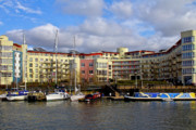 River Avon Prints - Bristol Harbour Appartments Print by Brian Roscorla