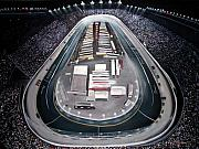 Nascar Paintings - Bristol Motor Speedway Racing The Way It Ought To Be by Patricia L Davidson