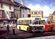 Nostalgia Paintings - Bristol REHL coach by Mike  Jeffries