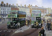 Bus Paintings - Bristols at Weymouth by Mike  Jeffries