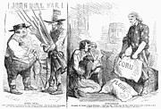 Flour Sack Prints - Britain And Civil War, 1862 Print by Granger