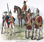 British & Hessian Soldiers Print by Granger