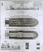 Slavery Ship Prints - British Abolitionist Created Broadside Print by Everett