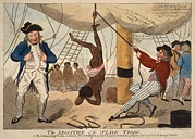 Slave Ship Framed Prints - British Cartoon Of A True Event Framed Print by Everett