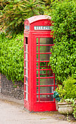 Booth Prints - British classic phone box in Lavenham Suffolk Print by Tom Gowanlock
